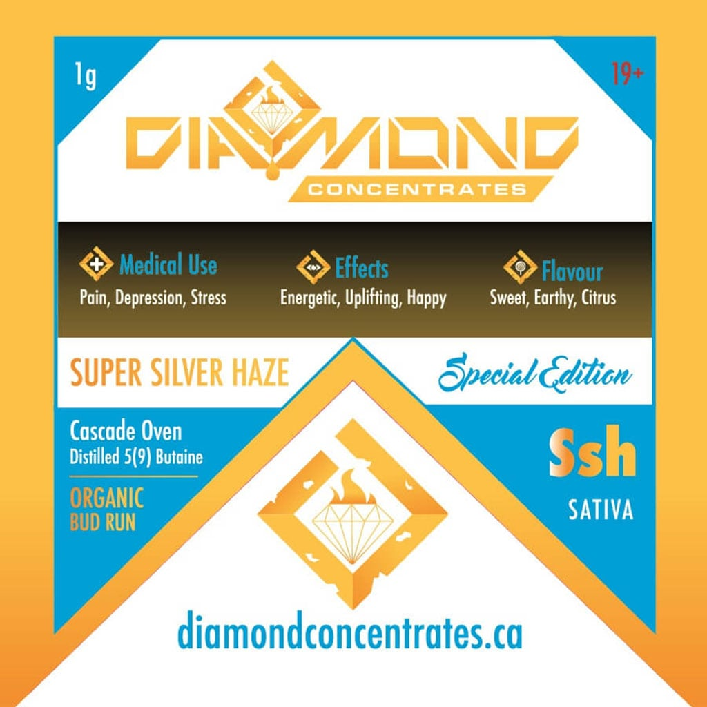 Diamond Concentrates Shatter Super Silver Haze