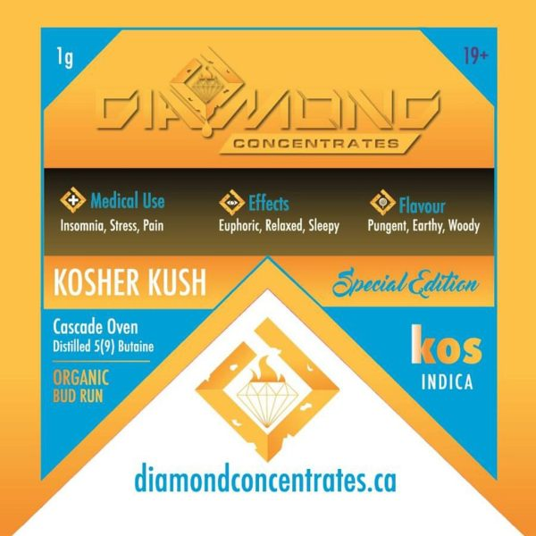Diamond Concentrates Shatter Kosher Kush