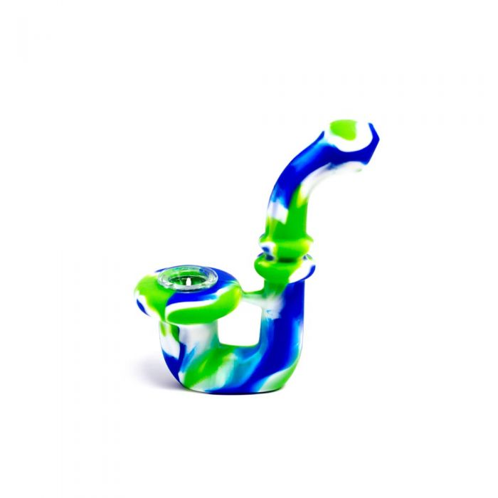 Green, Blue Longneck Silicone Pipe