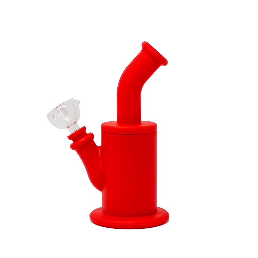 Orange Red Silicone Bong