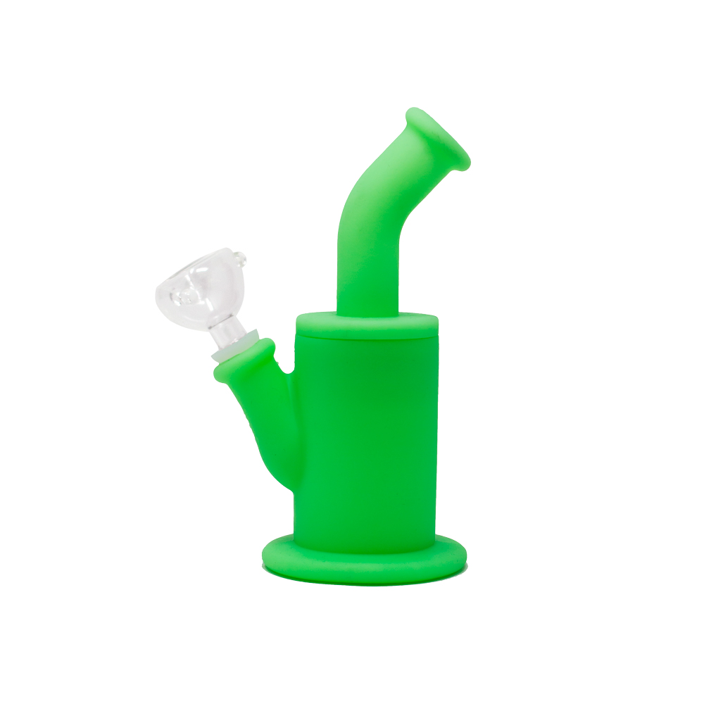 Solid Green Silicone Bong